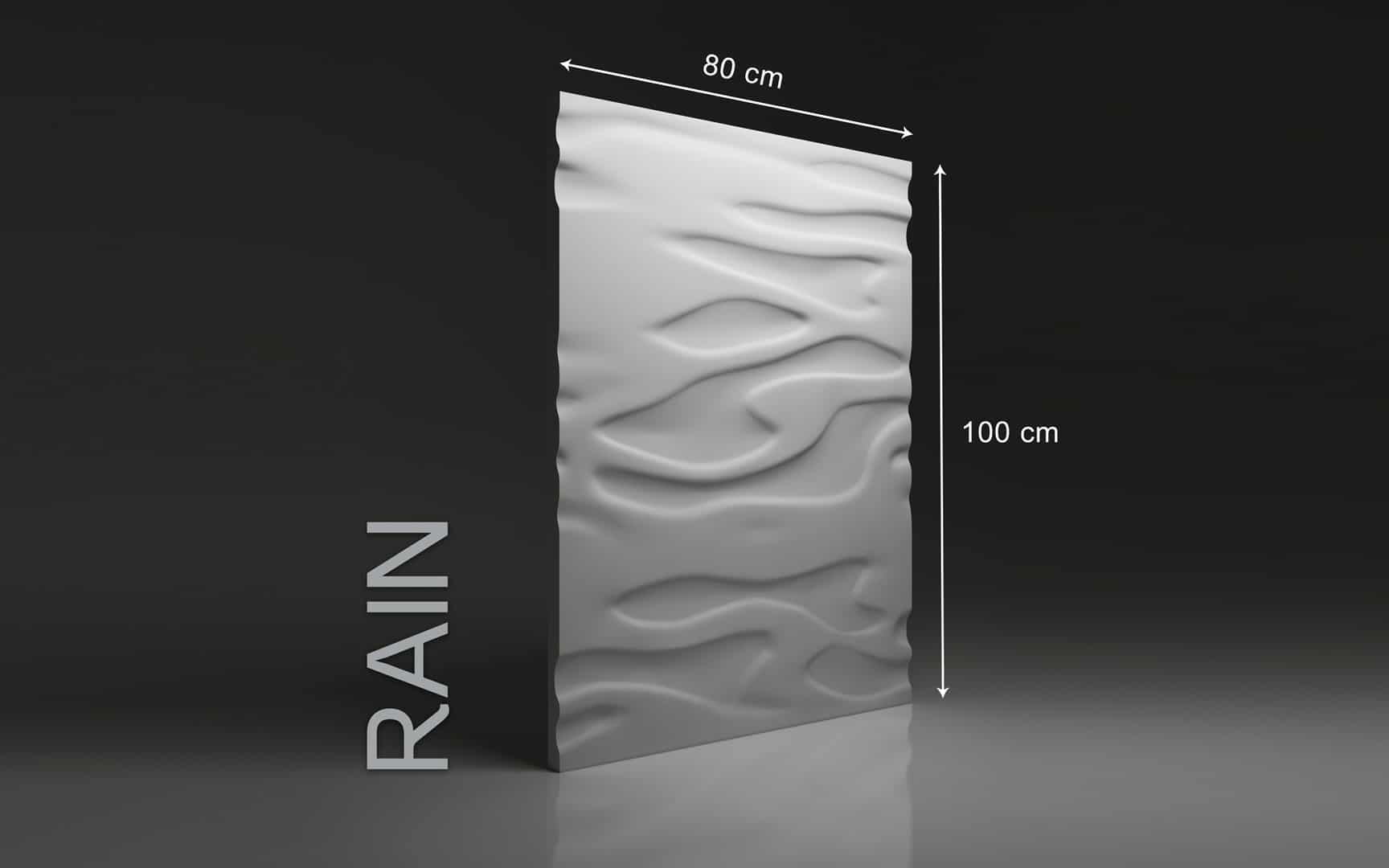 RAIN DIMENSIONS : hauteur 100 x largeur 80 cm ÉPAISSEUR : de 1,5 cm à 3 cm  POIDS : environ 12 kg
