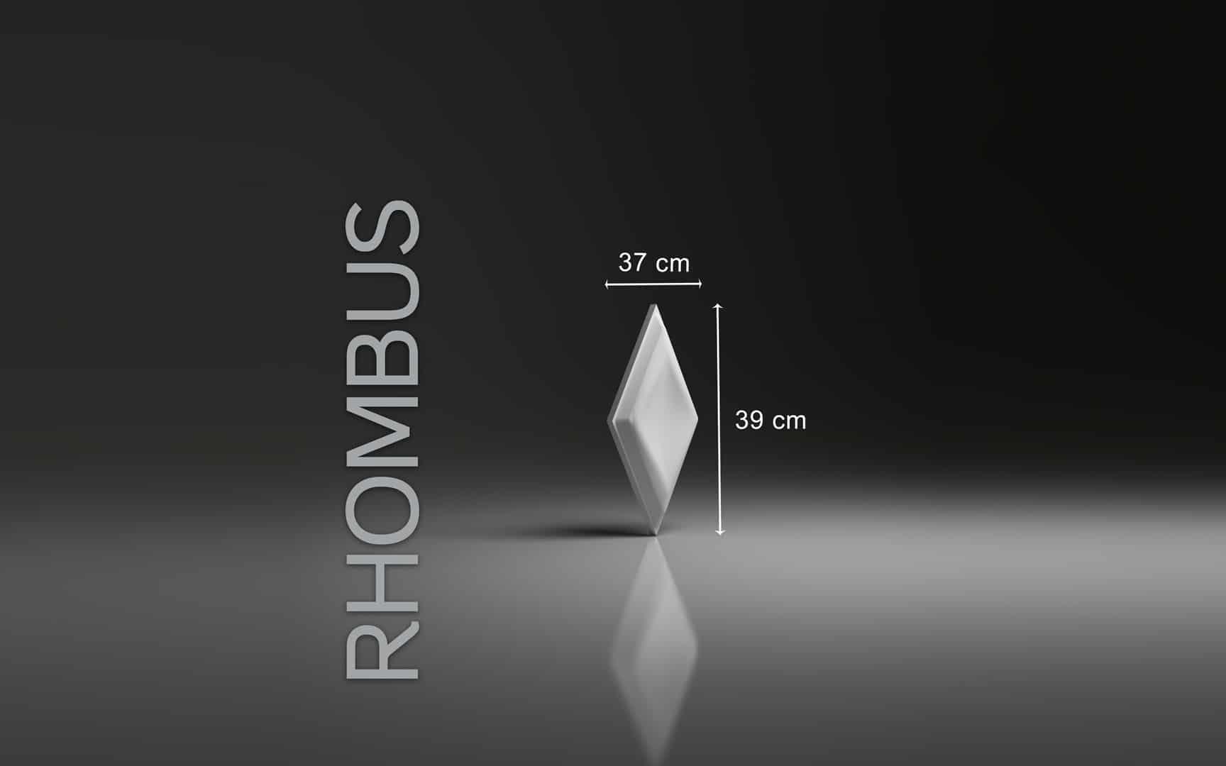 RHOMBUS DIMENSIONS : hauteur 39 x largeur 20 cm ÉPAISSEUR : 3,2 cm POIDS : environ 0,8 kg