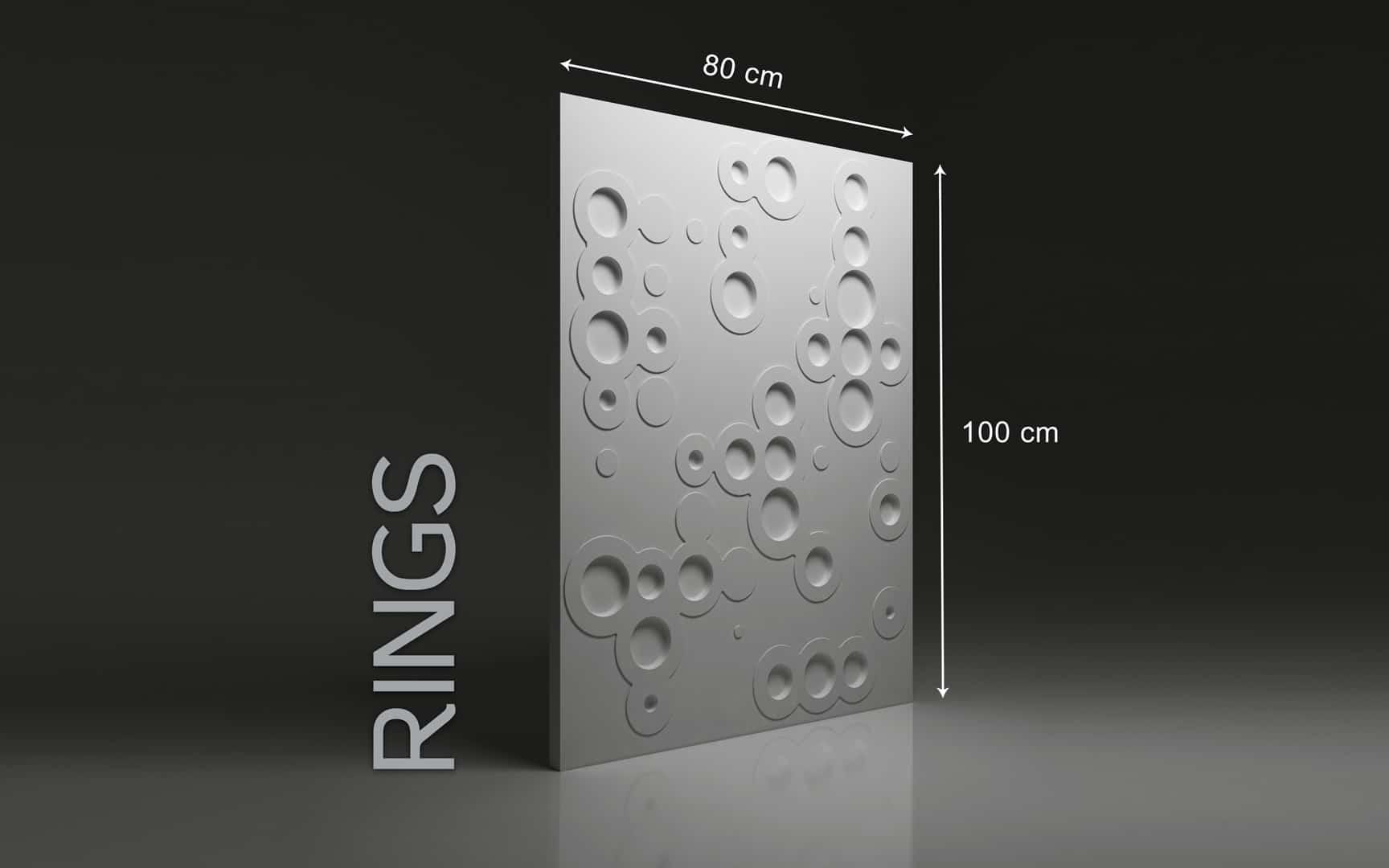 RINGS DIMENSIONS : hauteur 100 x largeur 80 cm ÉPAISSEUR : 1,5 à 3 cm POIDS : environ 12 kg