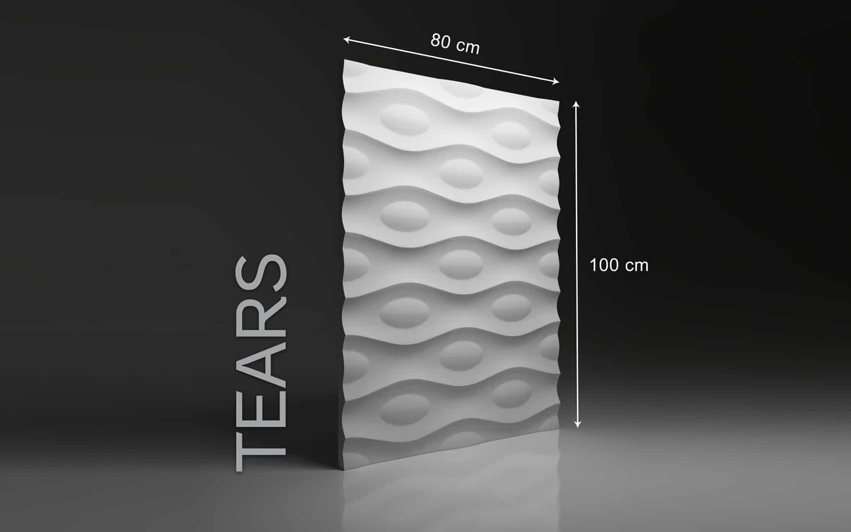 TEARS DIMENSIONS : hauteur 100 cm x largeur 80 cm ÉPAISSEUR : de 1,5 cm à 3,0 cm POIDS : environ 12 kg