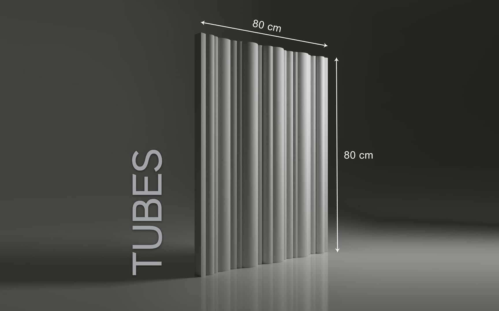 TUBES DIMENSIONS : hauteur 80 cm x largeur 80 cm ÉPAISSEUR : de 1,5 cm à 4,5 cm POIDS : environ 15 kg