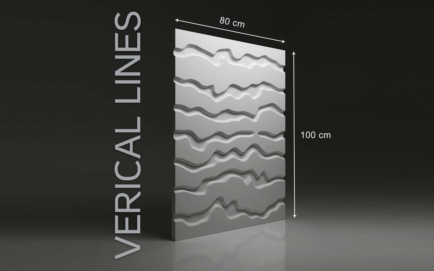 VERTICAL LINES DIMENSIONS : hauteur 100 cm x largeur 80 cm ÉPAISSEUR : de 1,5 cm à 3,0 cm POIDS : environ 12 kg