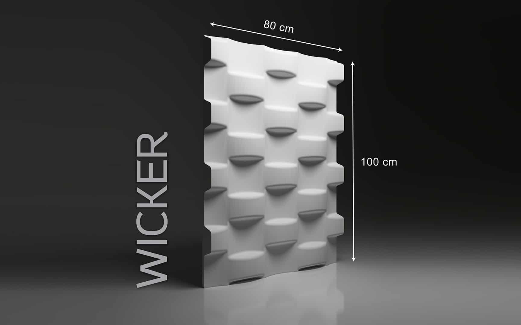 WICKER DIMENSIONS : hauteur 100 cm x largeur 80 cm ÉPAISSEUR : de 1,5 cm à 6,0 cm POIDS : environ 20 kg